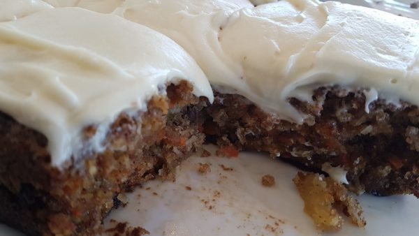 Carrot Cake with cream cheese icing   Block Union Bakery